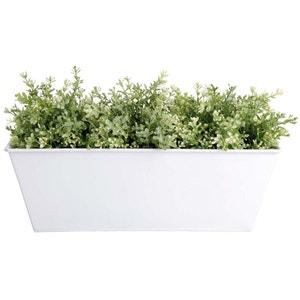 Jardinière blanc en zinc 40x15x15cm ESSCHERT DESIGN