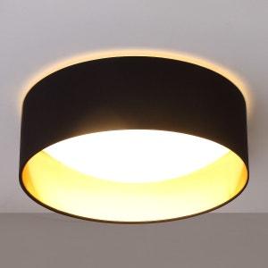 Plafonnier LED noir Coleen doré à l'intérieur LAMPENWELT