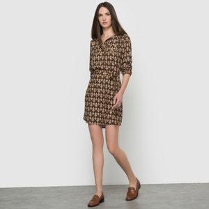 Bedrukte jurk met lange mouwen PARAMITA