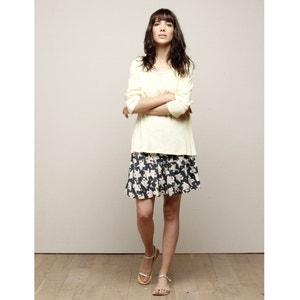 Short Floral Print Flared Skirt CHARLISE