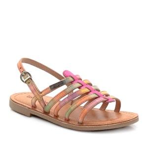 Sandálias com várias presilhas, em pele LES TROPEZIENNES PAR M.BELARBI