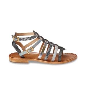 Platte sandalen in leer Baille LES TROPEZIENNES PAR M.BELARBI