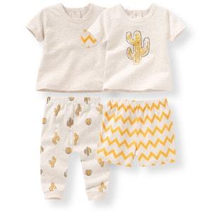 Pijama 2 peças em algodão, 0-3 anos (lote de 2) R mini