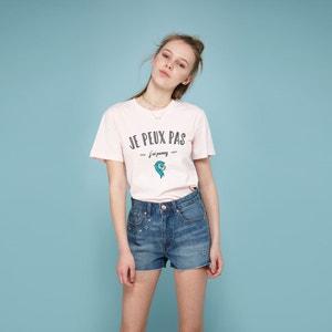 T-shirt z okrągłym dekoltem, nadrukiem i krótkim rękawem RAD