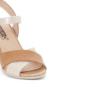 Leren sandalen met sleehak Vigo W3R PIKOLINOS