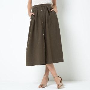 Falda midi de Lyocell® y lino atelier R