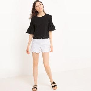 Ruffled Sleeve T-Shirt MADEMOISELLE R