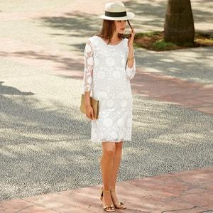 Sukienka z siatki, z haftem MADEMOISELLE R