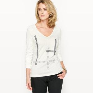 T-shirt fantasia, algodão & modal ANNE WEYBURN