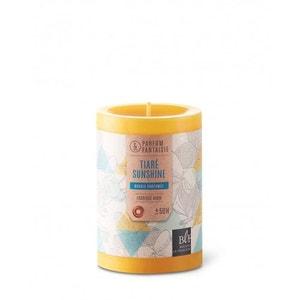 Bougie parfumée cylindrique 10cm 50h tiaré sunshine jaune BOUGIES LA FRANÇAISE