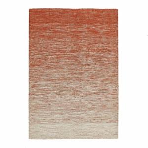 Plat geweven tapijt in wol met kilim motief, Abradant AM.PM.