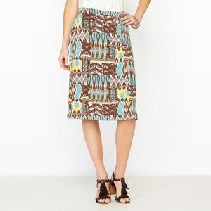DrapedPrinted Skirt ANNE WEYBURN