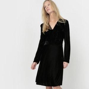Robe velours col V atelier R