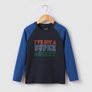 T-shirt manches longues à message 3-12 ans abcd'R