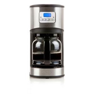 DOMO - Cafetière électrique programmable - Ecran LCD - Design inox - 12 tasses - 1,8L. DOMO
