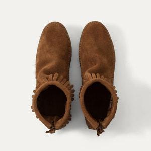 Boots in suèdeleer met franjes MINNETONKA