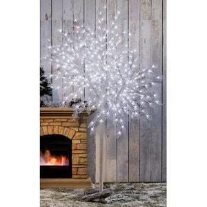 Arbre XXL lumineux intérieur/extérieur 2,50m - 400 Led FLASH blanc glacier - Effet scintillant - Décoration de Noël ! NONAME