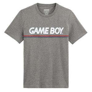 T-shirt met ronde hals, print vooraan en korte mouwen