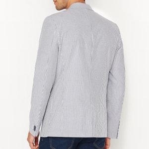Striped Slim Fit Suit Jacket R essentiel