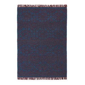 Plat geweven tapijt met kilim motief in wol Huzuro AM.PM.