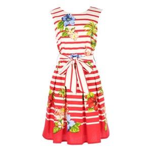 Floral Print Skater Dress RENE DERHY