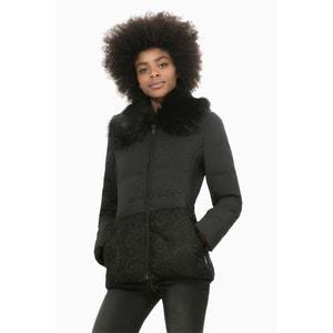 Abrig Marisa Zip-Up Coat with High Collar DESIGUAL