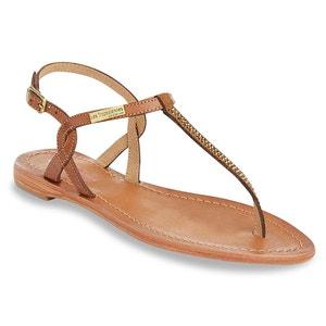 Sandálias em pele, com entrededos, Hourra LES TROPEZIENNES PAR M.BELARBI