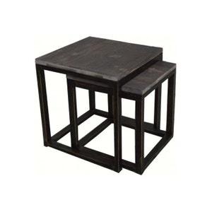 Set de 2 tables gigognes en métal STAKA DECLIKDECO