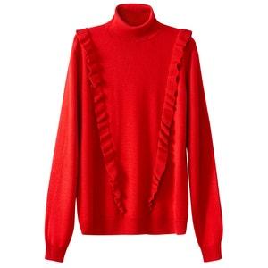 Пуловер-водолазка с воланами La Redoute Collections