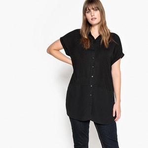 Dual Fabric Shirt-Style T-Shirt CASTALUNA