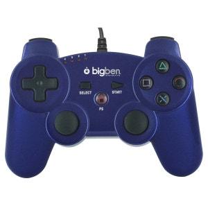 Mini manette filaire bleu foncé métallisé pour PS3 BIG BEN