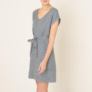 Gestreepte jurk in linnen HARRIS WILSON