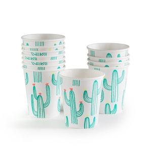 Faviene Cactus-Themed Paper Cups (Set of 12) La Redoute Interieurs