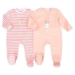 Set van 2 fluwelen pyjama's