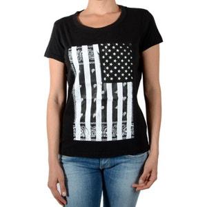 Tee Shirt Halag W Acid Wash Noir ELEVEN PARIS