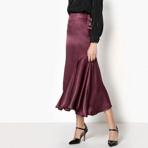 Silk Style Ruffled Midi Skirt La Redoute Collections
