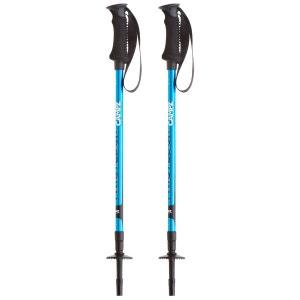 Komperdell Twistlock - Bâtons de randonnée - bleu/argent CAMPZ