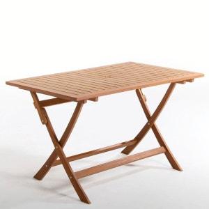 Table rectangulaire, pliante, eucalyptus, 6 couver La Redoute Interieurs