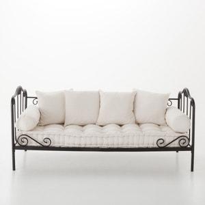 Set aus Matratze, Kissen und Nackenrollen