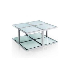 Table basse modulaire blanche en inox Sofia DECLIKDECO