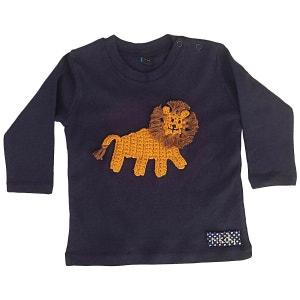 T-shirt bébé avec lion brodé RIKIKI KIDS