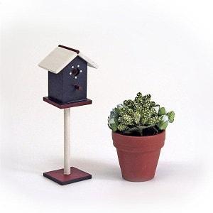 Accessoires pour maison de poupées : Mobilier et accessoires : Cage à oiseaux et plante ARTESANIA BEATRIZ