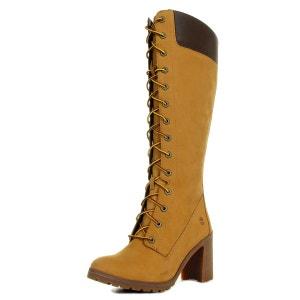 Bottes femme 14'' Side Zip Lace Up Boot Wheat Nubuck TIMBERLAND