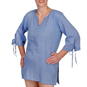 Blouse coton bleu jean BAISERS SALES