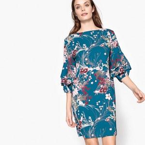 Kurzes Kleid mit Blumenmuster und ausgestellter Schnittform MADEMOISELLE R