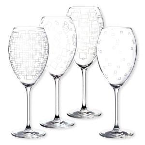 Verres à vin motifs assortis 55cl - Lot de 4 - STEFAN BRUNO EVRARD
