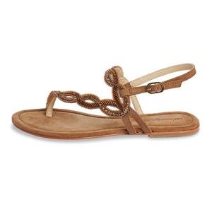 Joie Flat Leather Sandals LES TROPEZIENNES PAR M.BELARBI
