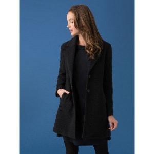 Manteau femme drap de laine bouclette, IKOKUMA SOMEWHERE