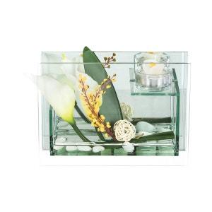 Composition de fleurs artificielles Arums - H. 14,5 cm ATMOSPHERA