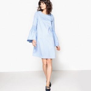 Sukienka bawełniana, rękawy smockowane La Redoute Collections